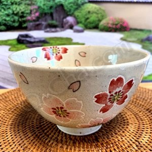 sakura tea bowl