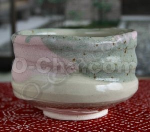 Three Color Shino Matcha Bowl