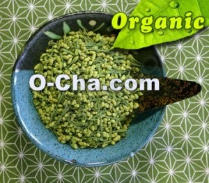 genmaicha with matcha organic green tea