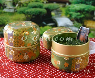 Green Tea Canisters